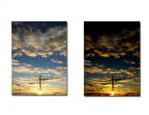 普通写真とRAW現像の比較