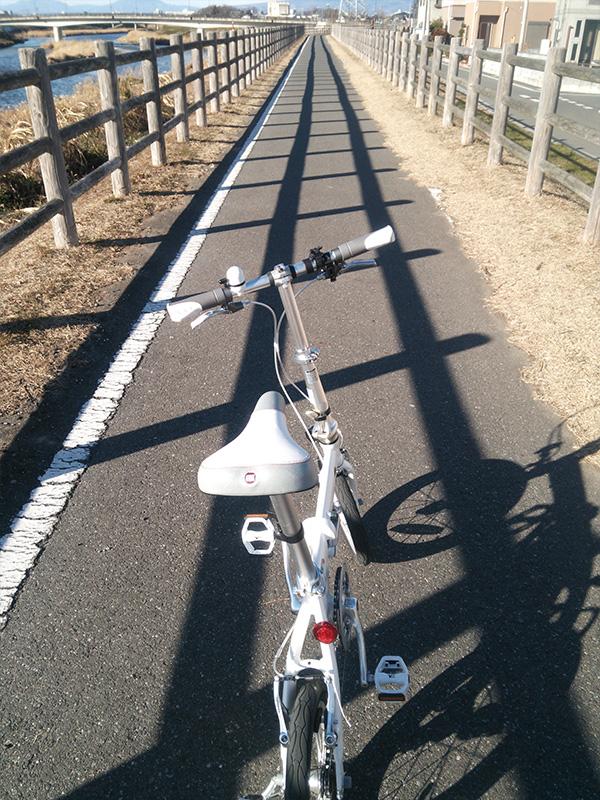 高崎伊勢崎自転車道途中