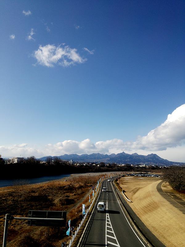 前橋から見る榛名山